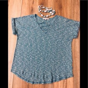 Almost Famous Teal Blue Top
